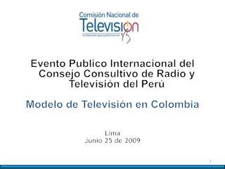 Evento Publico Internacional del Consejo Consultivo de Radio y Televisión del Perú