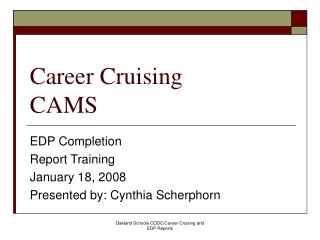 Career Cruising CAMS