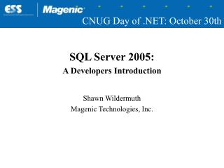 CNUG Day of .NET: October 30th