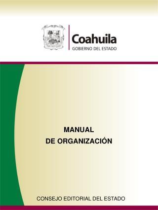 MANUAL DE ORGANIZACI�N