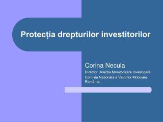 Protecția drepturilor investitorilor