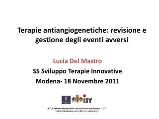 Terapie antiangiogenetiche: revisione e gestione degli eventi avversi