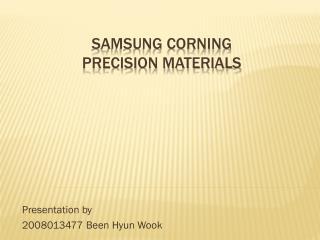 Samsung corning  precision materials