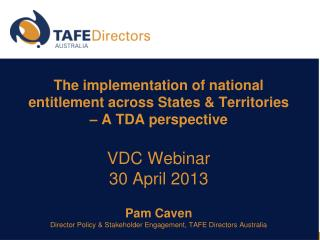 Australian  State and  Territory governments � policy drivers .