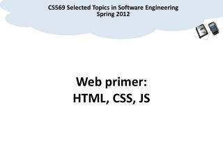 Web primer: HTML, CSS, JS