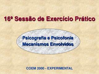 16ª Sessão de Exercício Prático