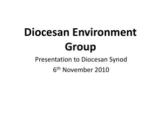 Diocesan Environment Group