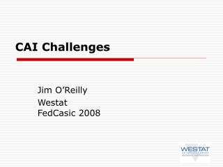 CAI Challenges