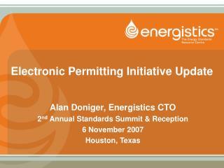 Electronic Permitting Initiative Update