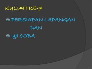 KULIAH KE-7