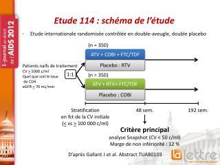 Etude 114 : schéma de l'étude