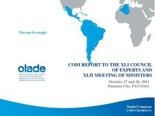 October 27 and 28, 2011 Panama City, PANAMA