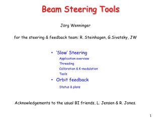 Beam Steering Tools