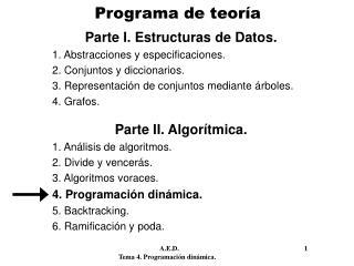 Programa de teoría