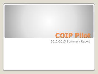 COIP Pilot