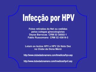 Infecção por HPV