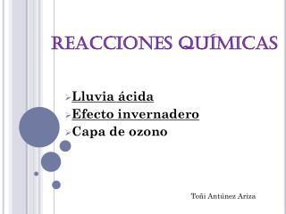 REACCIONES QUÍMICAS-Toñi Antúnez Ariza