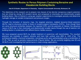 Synthetic Routes to Porous Polymers Containing Borazine and Diazaborole Building Blocks