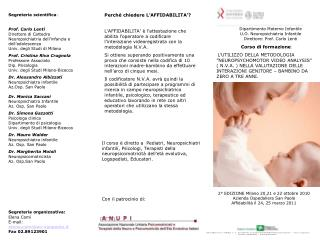 Dipartimento Materno Infantile U.O. Neuropsichiatria Infantile Direttore: Prof. Carlo Lenti