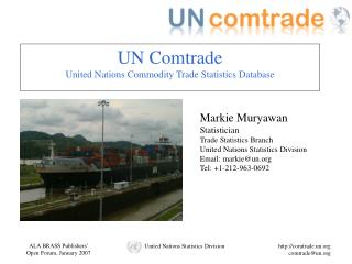 UN Comtrade United Nations Commodity Trade Statistics Database