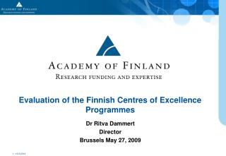 Evaluation of the Finnish Centres of Excellence Programmes