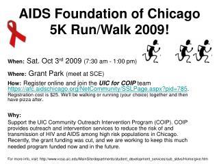 AIDS Foundation of Chicago 5K Run/Walk 2009!