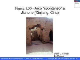"Figura 1.50 -  Arco ""spontaneo"" a  Jiahohe (Xinjiang, Cina)"