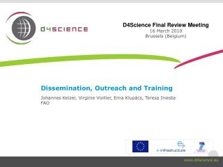 Dissemination, Outreach and Training