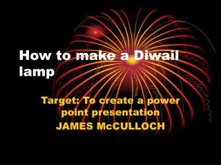 How to make a Diwail lamp