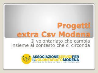 Progetti  extra Csv Modena