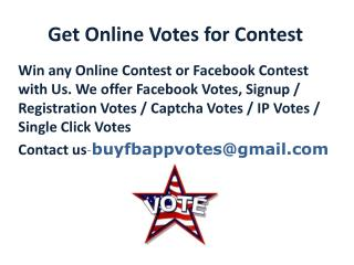 Get Online Votes for Contest