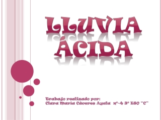 Lluvias Ácidas - Clara María Cáceres Ayala