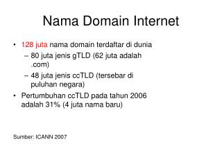 Nama Domain Internet