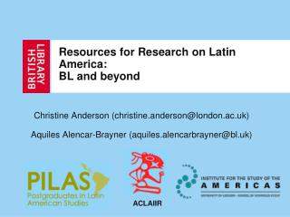 Resources for Research on Latin America: BL and beyond
