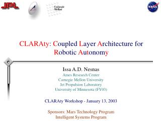 CLARAty: Coupled Layer Architecture for Robotic Autonomy