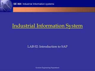 Industrial Information System