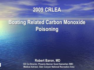 2009 CRLEA Boating Related Carbon Monoxide Poisoning