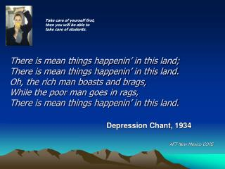 Depression Chant, 1934
