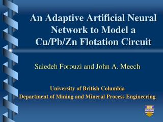 An Adaptive Artificial Neural Network to Model a  Cu/Pb/Zn Flotation Circuit