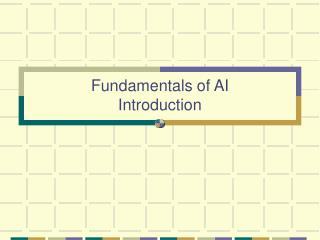 Fundamentals of AI Introduction