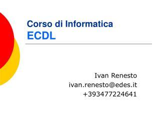 Corso di Informatica ECDL