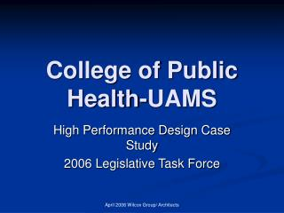 College of Public Health-UAMS