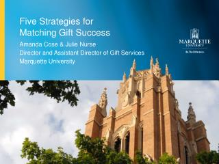 Five Strategies for  Matching Gift Success