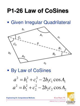 P1-26 Law of  CoSines