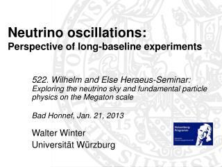 Neutrino oscillations:  Perspective of long-baseline experiments