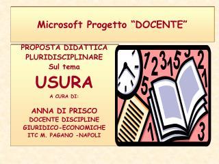 Microsoft Progetto  DOCENTE