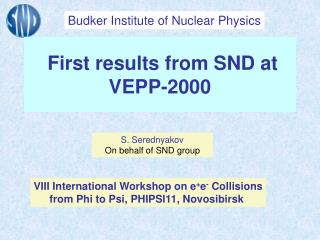 First results from SND at VEPP-2000