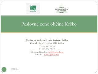 Poslovne cone občine Krško
