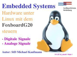 Foxboard G20 im Internet