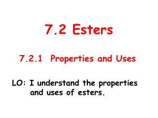 7.2 Esters